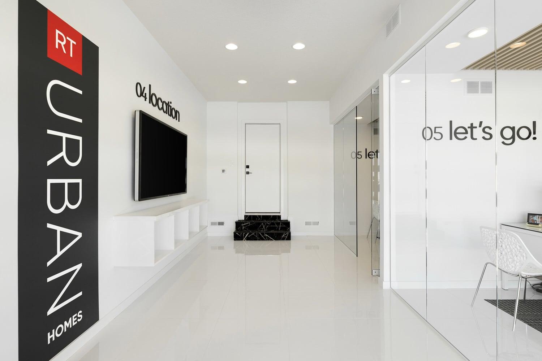 RT Urban Homes Sales Center – lobby & location kiosk
