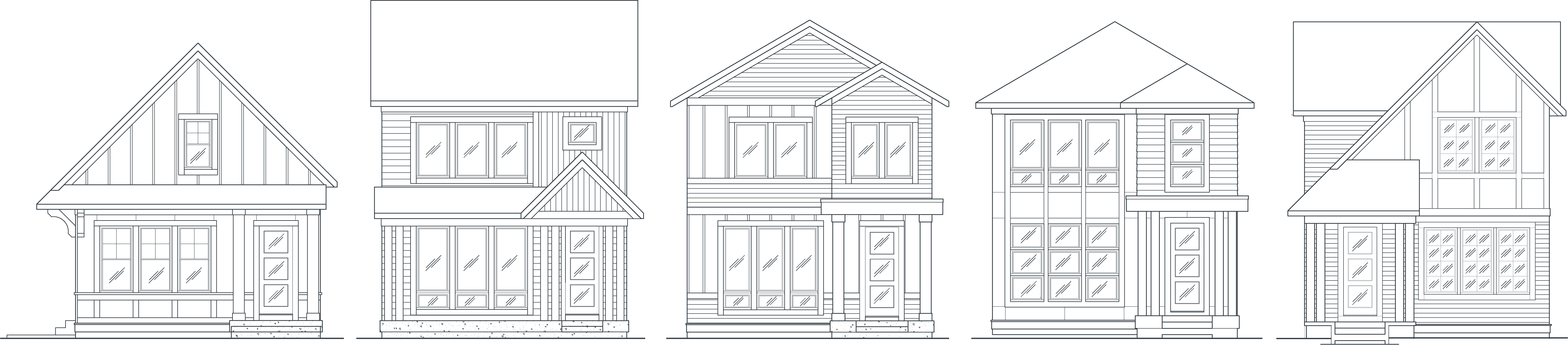 Revival Front Elevations of homes