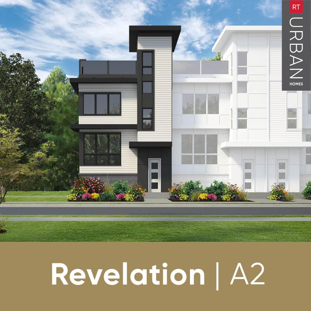 RT Urban Homes Revelation Collection – Elevation Of Floorplan A2