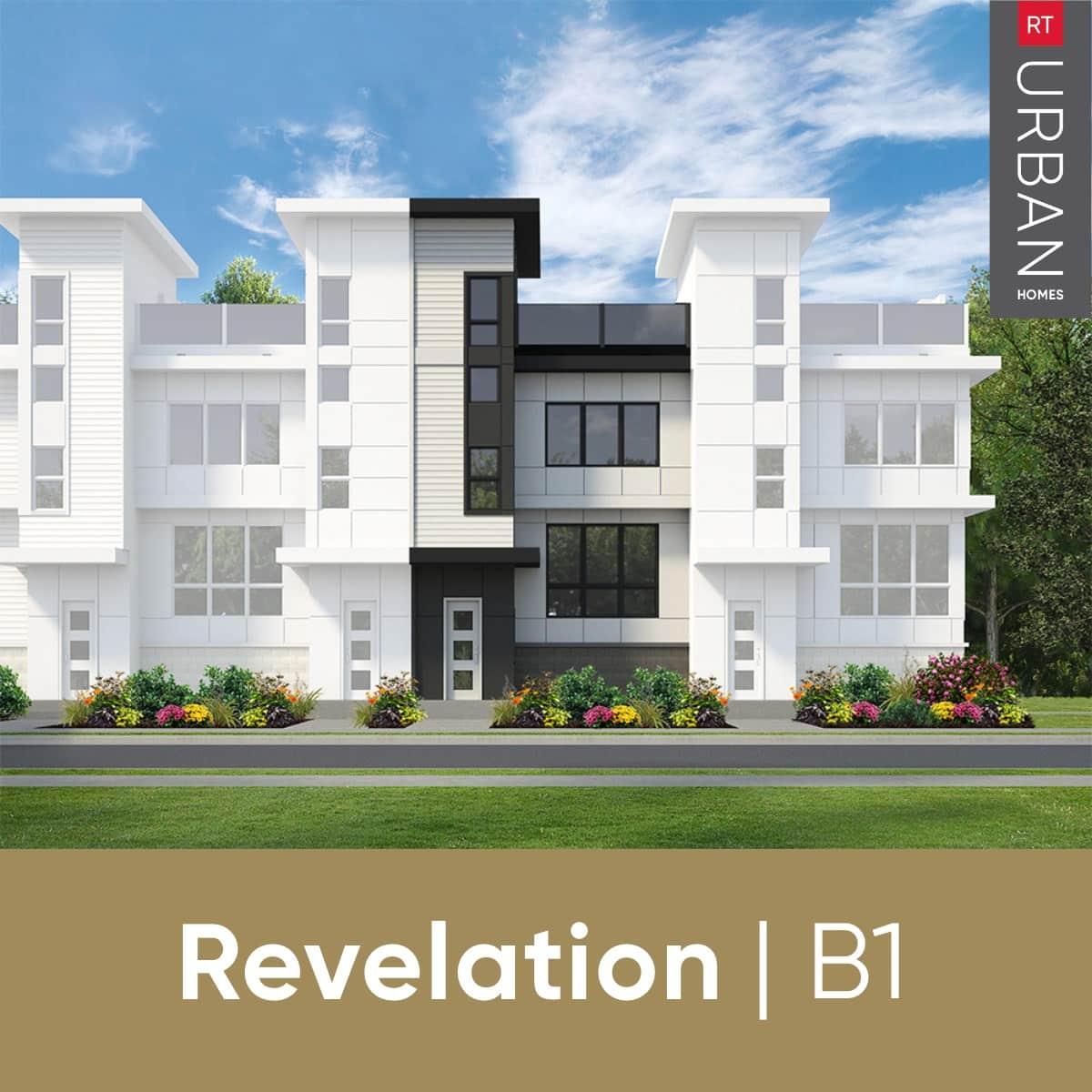 RT Urban Homes Revelation Collection – Elevation Of Floorplan B1