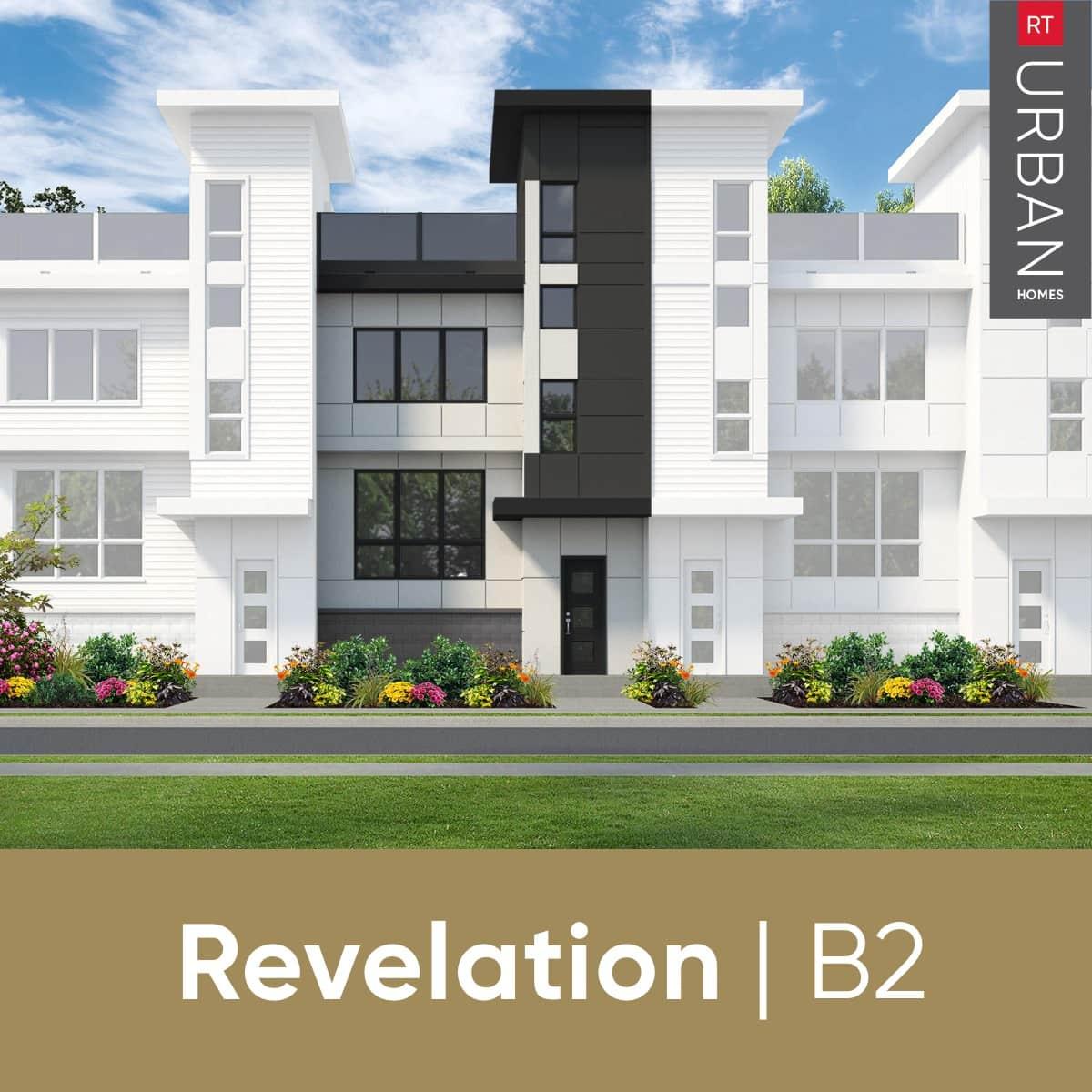 RT Urban Homes Revelation Collection – Elevation Of Floorplan B2
